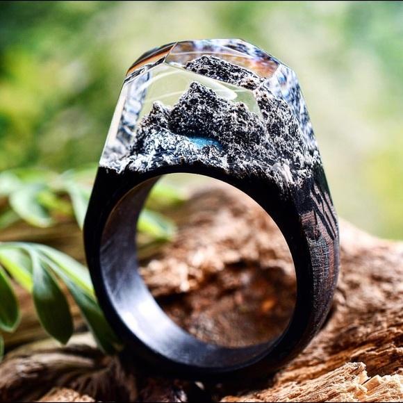 Secret Wood Jewelry - SALE-Wood Ring-Secret Wood Arctic Summit Size 7